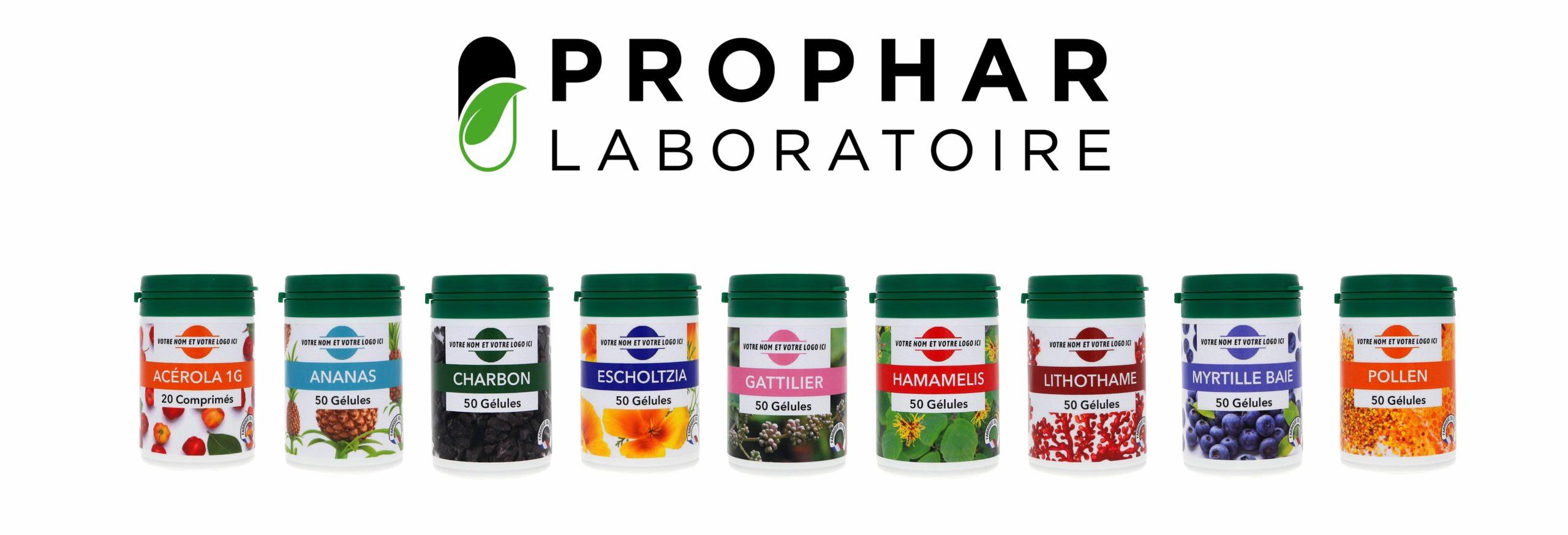 Laboratoire Prophar - Full Service - Faconnage et conditionnement de complément alimentaires