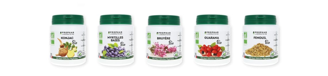 Voici quelques produits de la gamme BIO commercialisé par le laboratoire PROPHAR
