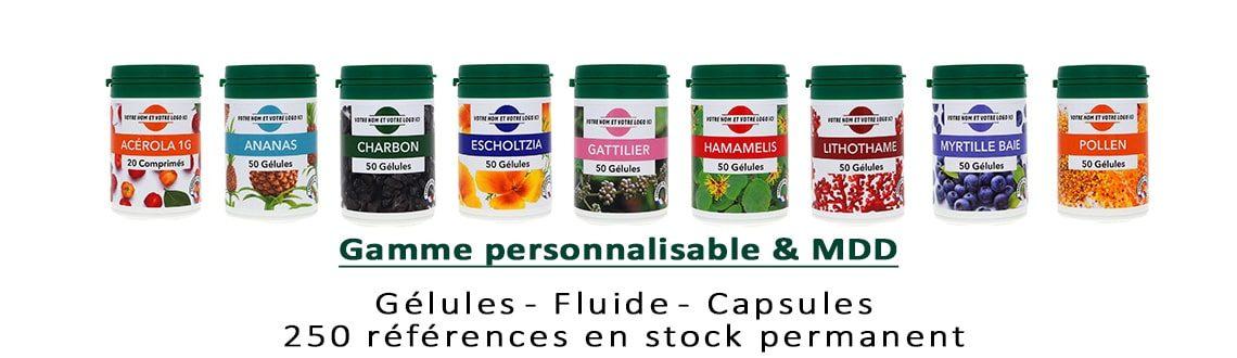 Gamme personnalisable fluide gélules capsules 2