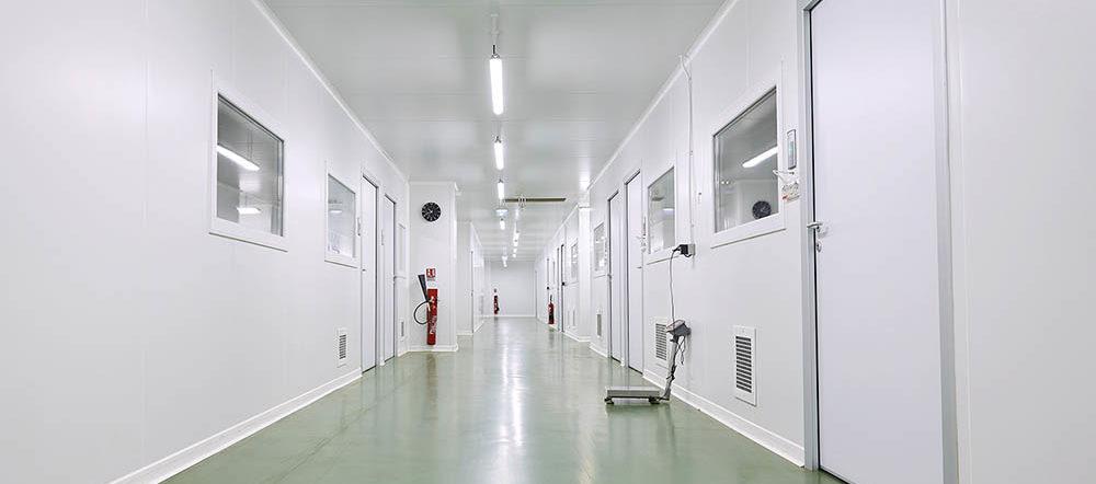 Salles de prodcution - Zone blanche - Laboratoire Prophar